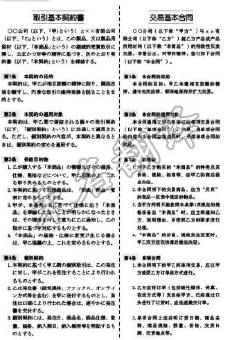 日语合同翻译,合同翻译公司